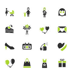 mohter day icon set vector image