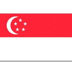 singaporean flag vector image vector image