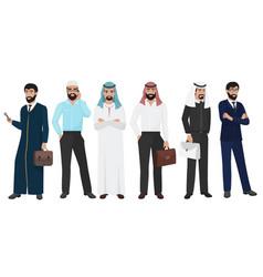 arabic business man people muslim arab office vector image vector image
