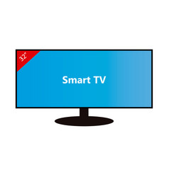 smart tv-32 inches vector image vector image