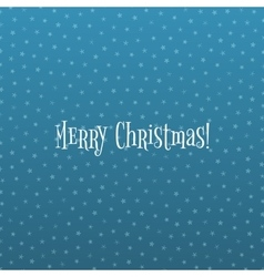 Snowflake Christmas Pattern on blue Ice Background vector image