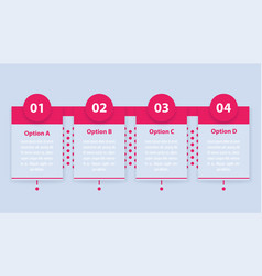 1 2 3 and 4 steps infographics or timeline vector