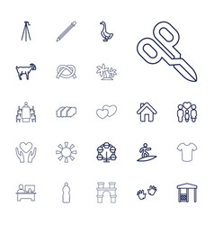 22 silhouette icons vector