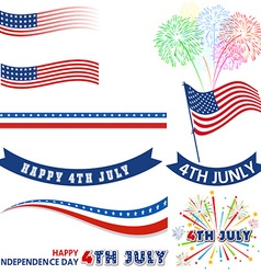 4th of July Design Elements vector