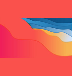 abstract summer background shapes and geometric vector image