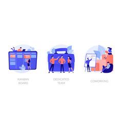agile project development concept metaphors vector image