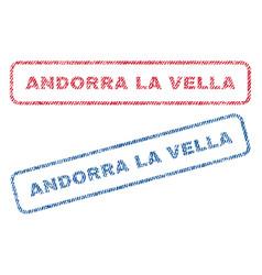 Andorra la vella textile stamps vector