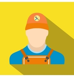 Auto mechanic avatar flat icon with shadow vector