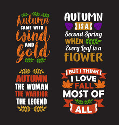 autumn quote and saying good for print vector image
