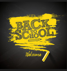 back to school with chalk and vector image