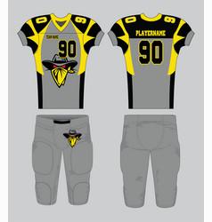 Black gray gold bandit symbol american football vector