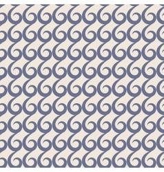 Blue swirls seamless pattern vector