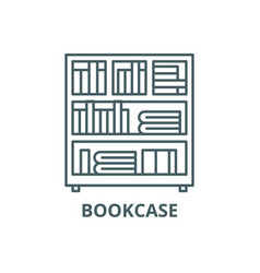 bookcase line icon bookcase outline sign vector image