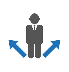 Business strategy or decision making concept vector