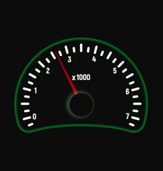 car tachometer vector image
