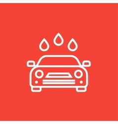 Car wash line icon vector image