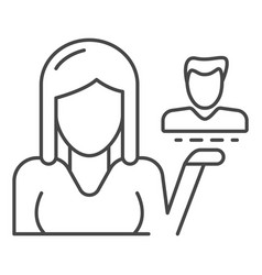 client retention icon outline style vector image