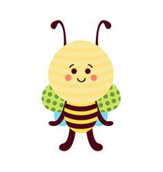 cute cartoon bee baby toy colorful vector image