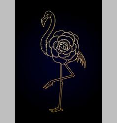 cute graphic flamingo vector image vector image