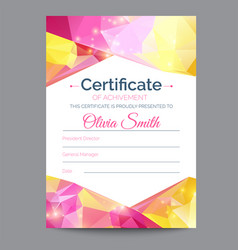 diploma template certificate awards modern vector image
