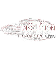Discussion word cloud concept vector