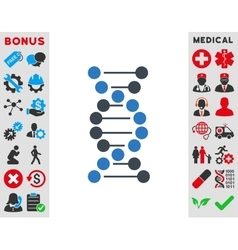 Dna Spiral Icon vector image