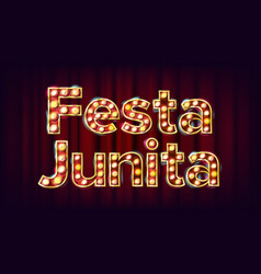 Festa junina banner carnival vintage vector