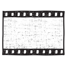 film strip background empty film frame sketch vector image