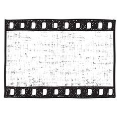 film strip background empty frame sketch vector image