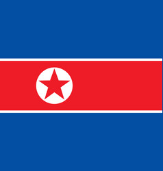 flag in colors of north korea vector image