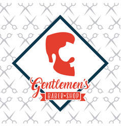 Gentleman barber shop vector