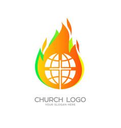 globe the cross of jesus christ vector image