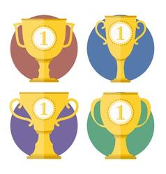 Golden cups vector