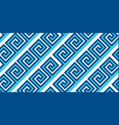 greek classic meander seamless pattern vector image