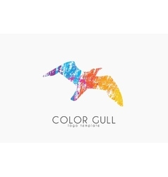 Gull logo Color gull Birl logo Creative logo vector image