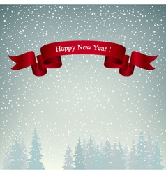 Happy New Year Landscape in Gray Shades vector image