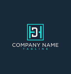 Hd dh initial logo luxury design inspiration vector
