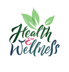 health and wellness studio logo stroke vector image