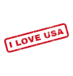 I Love USA Text Rubber Stamp vector image