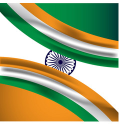 India flag template design vector