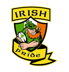 Irish rugby shield vector