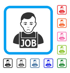 jobless framed sad icon vector image
