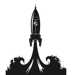 Launch space rocket vector