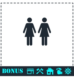 Lesbian icon flat vector image