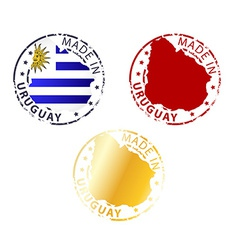 Made in Uruguay stamp vector
