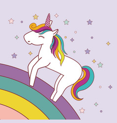 magical unicorn design vector image