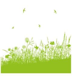 Meadow spring vector