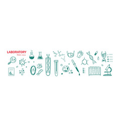 medical laboratory research hand drawn vector image