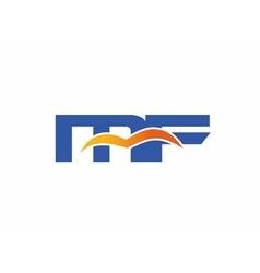 MF Logo Graphic Branding Letter Element vector