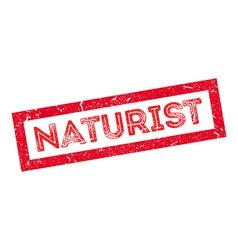 Naturist rubber stamp vector
